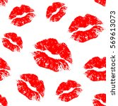 vector red seamless pattern on... | Shutterstock .eps vector #569613073