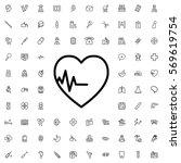 heartbeat icon illustration... | Shutterstock .eps vector #569619754