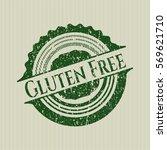 green gluten free distressed...   Shutterstock .eps vector #569621710