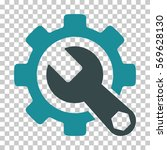 soft blue service tools... | Shutterstock .eps vector #569628130