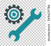 soft blue service tools...   Shutterstock .eps vector #569629786
