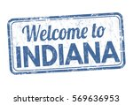welcome to indiana grunge... | Shutterstock .eps vector #569636953
