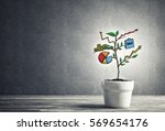 concept of successful business... | Shutterstock . vector #569654176