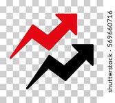 trends icon. vector... | Shutterstock .eps vector #569660716