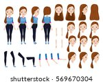 teen girl character creation... | Shutterstock .eps vector #569670304