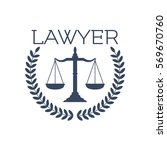 advocate or lawyer emblem.... | Shutterstock .eps vector #569670760
