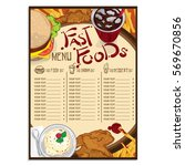 menu fast food graphic  design... | Shutterstock .eps vector #569670856
