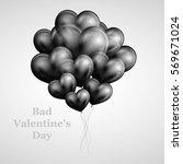 black hears ballons valentines... | Shutterstock .eps vector #569671024
