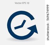 timetable vector icon | Shutterstock .eps vector #569674999