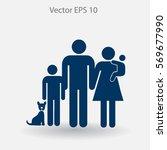 family vector icon | Shutterstock .eps vector #569677990