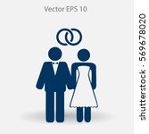 marriage vector icon | Shutterstock .eps vector #569678020