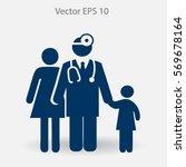 family practice vector... | Shutterstock .eps vector #569678164