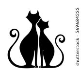 vector black silhouettes of... | Shutterstock .eps vector #569684233