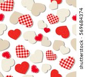 vector valentine's day seamless ... | Shutterstock .eps vector #569684374
