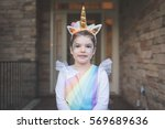 Toddler In Unicorn Costume