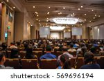 business conference and... | Shutterstock . vector #569696194