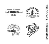 thank you text lettering vector ... | Shutterstock .eps vector #569702458