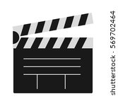 clapper board vector... | Shutterstock .eps vector #569702464