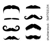big set of vector hipster...   Shutterstock .eps vector #569703154