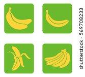 Vector Set Of Yellow Banana...