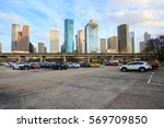 houston on 24 january  parking... | Shutterstock . vector #569709850
