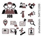 job search icon set | Shutterstock .eps vector #569711200
