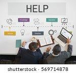 contact us help business... | Shutterstock . vector #569714878