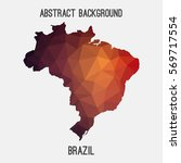 brazil map in geometric...   Shutterstock .eps vector #569717554
