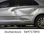 door car with damage on... | Shutterstock . vector #569717893