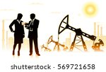 businessman with business woman ... | Shutterstock .eps vector #569721658