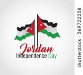 jordan independence day vector... | Shutterstock .eps vector #569722258