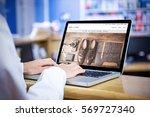 vintage things against... | Shutterstock . vector #569727340