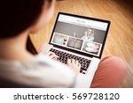 website homepage against asian... | Shutterstock . vector #569728120