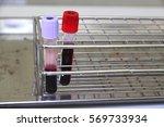 blood tube for testing in... | Shutterstock . vector #569733934