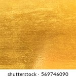 shiny yellow leaf gold foil... | Shutterstock . vector #569746090