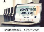 competitor analysis on landing...   Shutterstock . vector #569749924