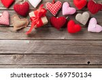 valentines day greeting card.... | Shutterstock . vector #569750134