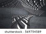 empty dark abstract concrete... | Shutterstock . vector #569754589