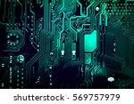 circuit board. electronic... | Shutterstock . vector #569757979
