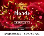 mardi gras shiny background... | Shutterstock .eps vector #569758723