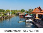 Small photo of BANGKOK, THAILAND - JANUARY 22, 2017: Phraya Suren Floating Market Have More Than 100 Stores And Sheep Farm & Coffee Is A Beautiful Garden, Admission Fee Is 20 Baht Per Person.