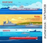 military fleet horizontal... | Shutterstock .eps vector #569764438