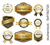 luxury premium golden labels... | Shutterstock .eps vector #569782720