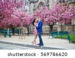 romantic couple having a date... | Shutterstock . vector #569786620