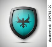 protection shield concept coat... | Shutterstock .eps vector #569788420