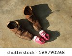Adult Brown Leather Shoe And...