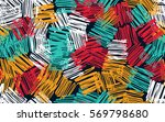 seamless pattern. casually... | Shutterstock .eps vector #569798680