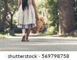 sad girl feeling alone in the... | Shutterstock . vector #569798758