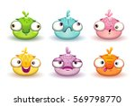 funny colorful blob characters...