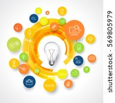 idea loading. business icons.... | Shutterstock .eps vector #569805979